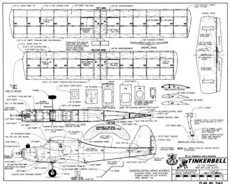 Tinkerbell model airplane plan