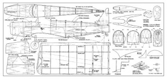 Tipsy Junior model airplane plan