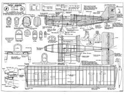 Tipsy Junior 1 model airplane plan