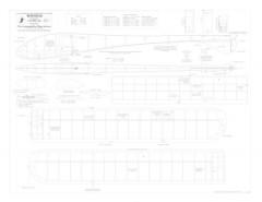 Tonto BW Print model airplane plan