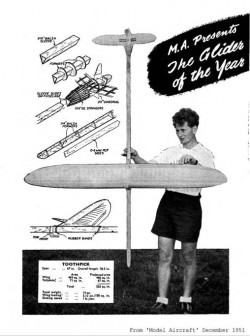 Toothpick 67in model airplane plan