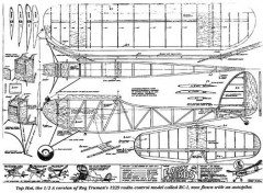 Top Hat model airplane plan
