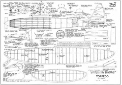 Torpedo model airplane plan