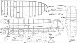 Toughie 1943 75in model airplane plan