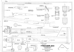Tracer 40 RCM 973-3 model airplane plan