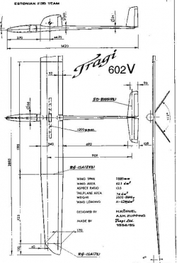 Tragi v model airplane plan