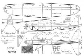 Trainer-F59 Greyscale model airplane plan