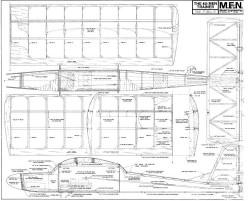 Trainer MEN 58in model airplane plan