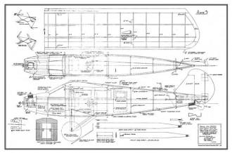 Travel Air 6000 pd1 model airplane plan