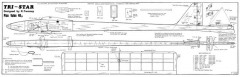 Tri-Star model airplane plan