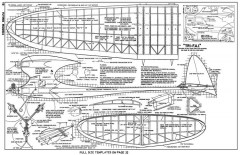Tri FAI model airplane plan
