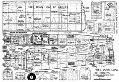 Triple Threat 1957 model airplane plan