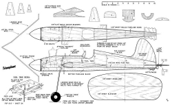 Triumphant model airplane plan