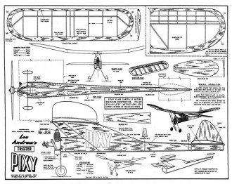 Trixter Pixy 26in model airplane plan