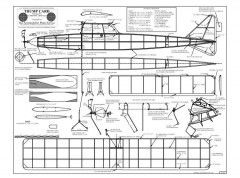 Trump Card BW Print model airplane plan