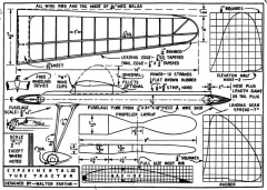 Tube Tractor p1 model airplane plan