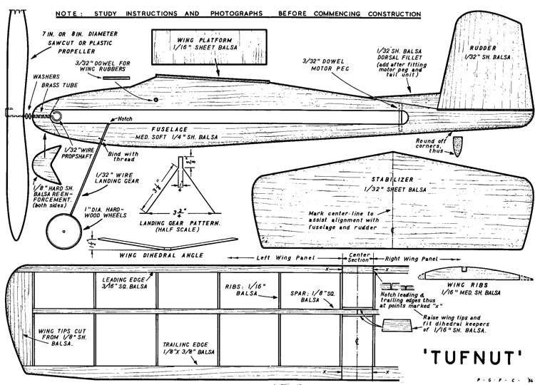 Tufnut model airplane plan
