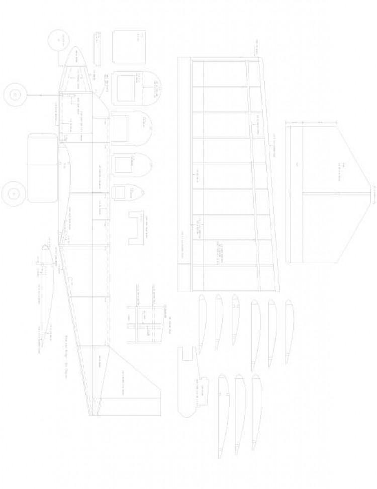 Twin Model 1 model airplane plan
