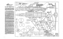 US Navy Cutlass F7U-3 model airplane plan