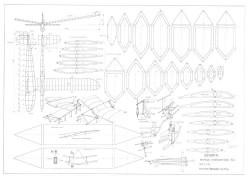 Uborka model airplane plan