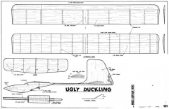 Ugly Duckling Towline model airplane plan