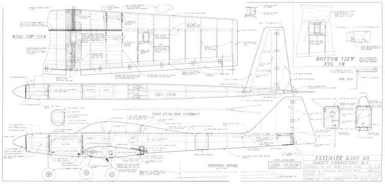 Ultimate Kaos 60 model airplane plan