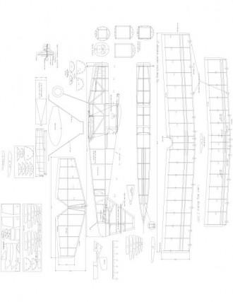 Ultimate bipe Model 1 model airplane plan