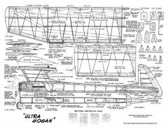 Ultra Hogan model airplane plan