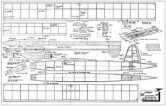 Upbury 36in model airplane plan