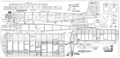 Uplift plan 300dpi model airplane plan