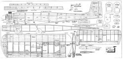 Uplift plan 300dpi model airplane plan