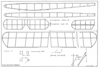 Utility Commercial 20in model airplane plan