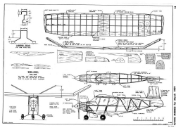 V-Girl model airplane plan