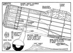 VULTEE 1 model airplane plan