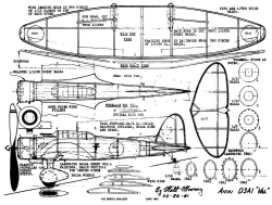 Val-2 model airplane plan