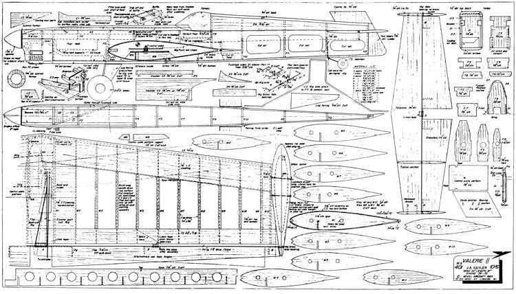 ValerieII model airplane plan