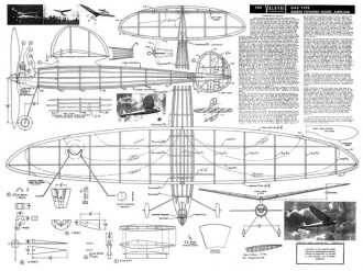 Valkyrie rubber model airplane plan