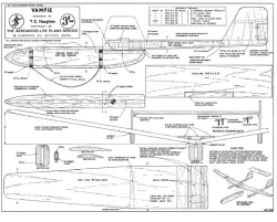 Vampie 36in model airplane plan