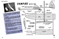 Vampire 9in model airplane plan