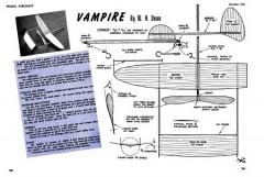 Vampire 9in model airplane plan