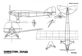 Van Hattum TFM-29 model airplane plan