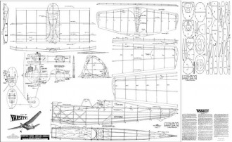 Varsity OT model airplane plan