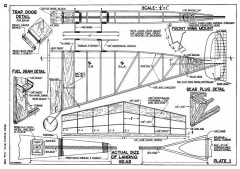Vee Gas p1 model airplane plan