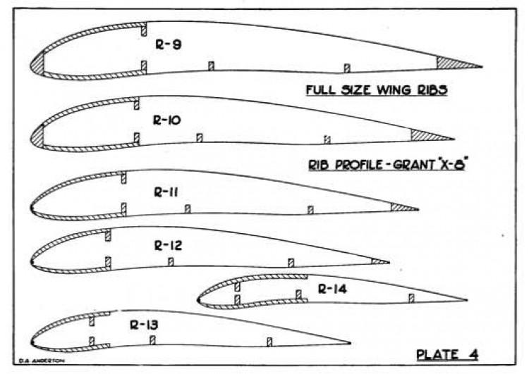Vee Gas p4 model airplane plan