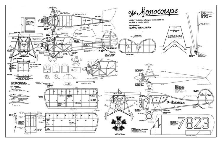 Velie Monocoupe model airplane plan