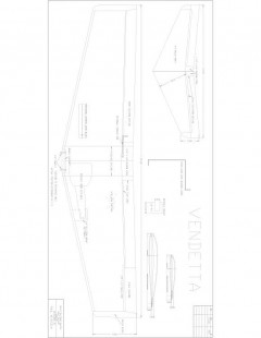 Vendetta 2 Model 1 model airplane plan
