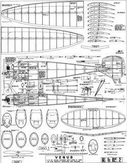 Venus low res model airplane plan