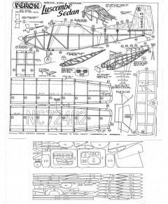 Veron Luscombe Sedan model airplane plan