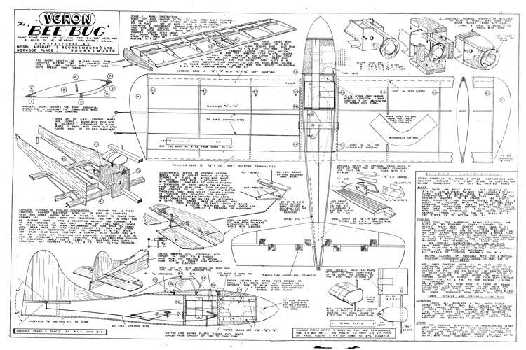 VeronBeeBug model airplane plan