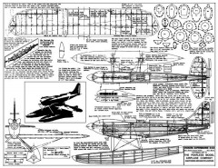 Vickers Supermarine S-6-B model airplane plan